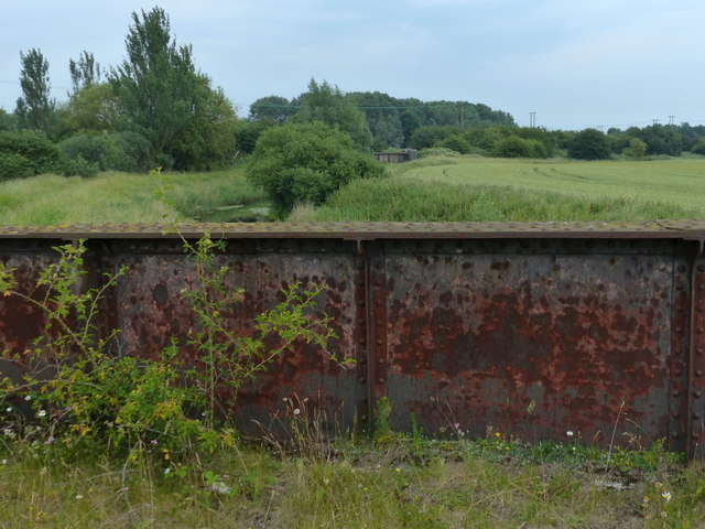 Disused railway bridge over the River Nar