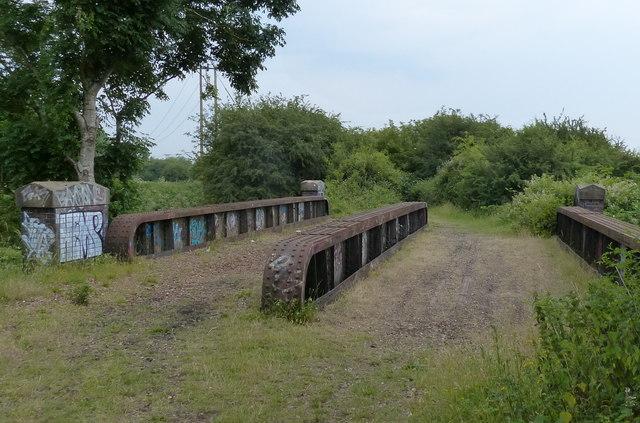 Disused railway bridge over the River Nar