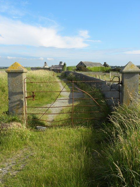 Old gate on the coast path at Cemlyn