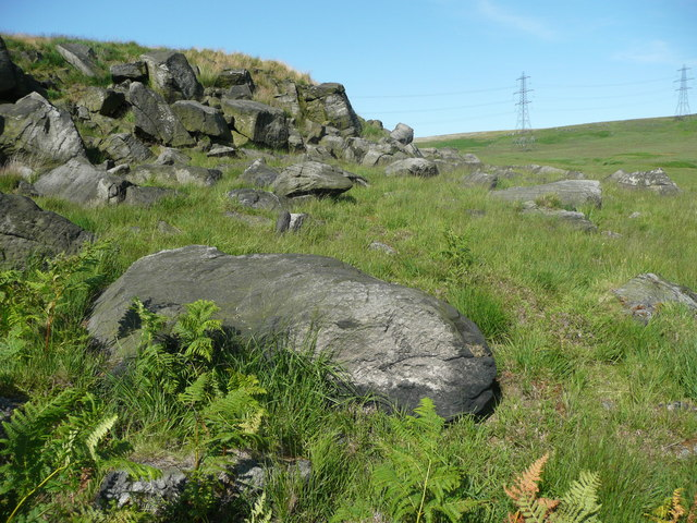 Rocks on The Lowe, Chelburn Moor