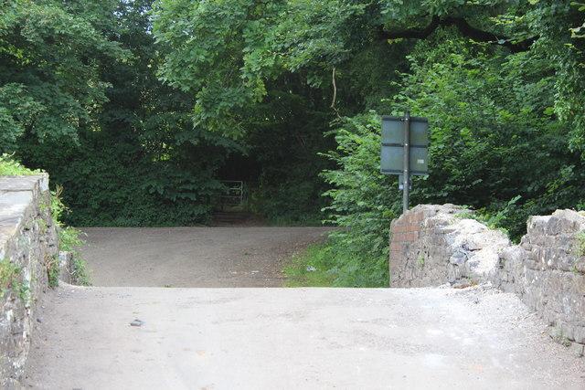 Sirhowy Valley Walk crossing Brickyard Lane