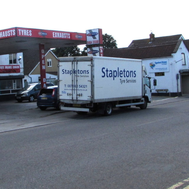 Stapletons Tyre Services lorry, Station Road, Yate