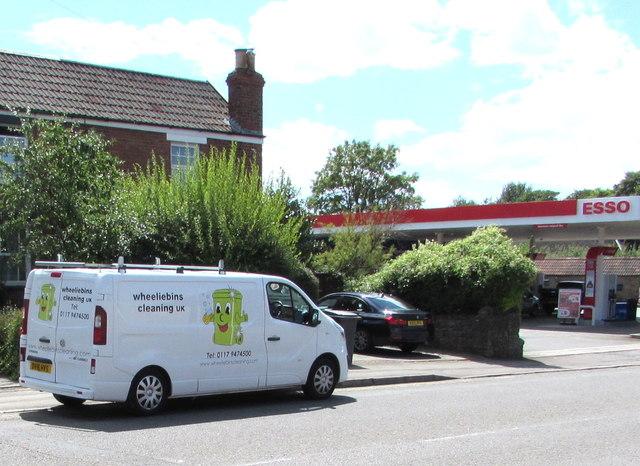 Wheeliebins Cleaning UK van, Station Road, Yate