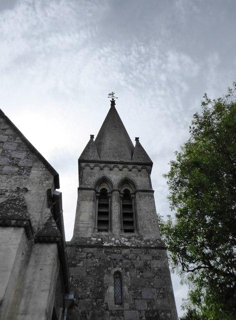 East Kennett: the church spire
