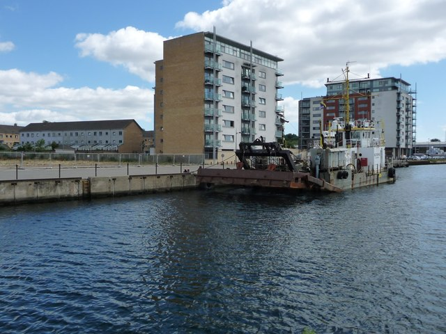 Southern end of Orwell Quay, Ipswich