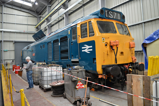 Class 50 under repair