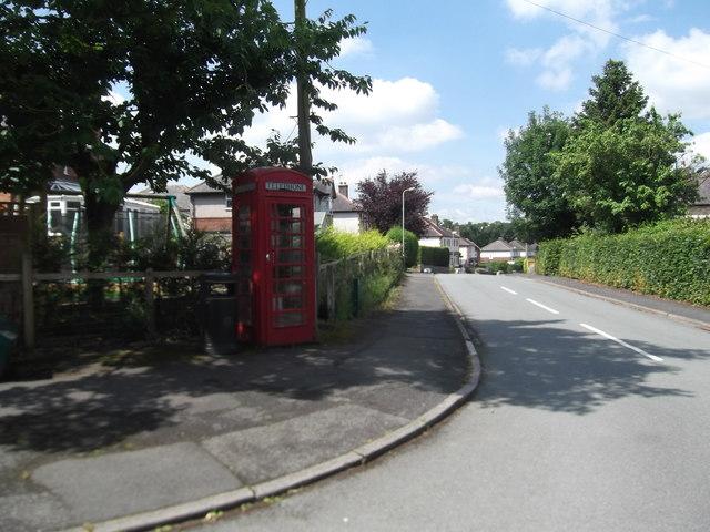 Old Telephone Kiosk, Pen-y-Ffordd