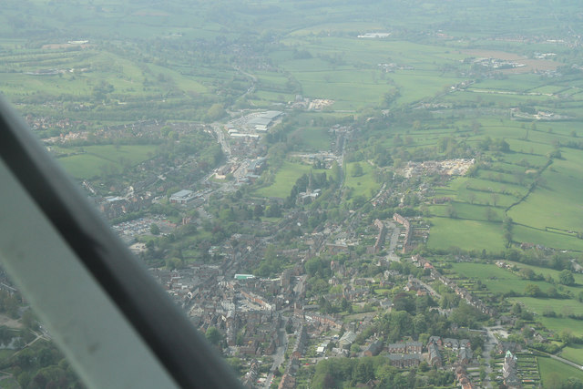 Aerial view of Ashbourne