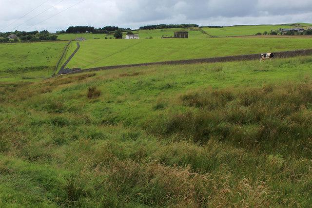 The Dam holding back Parsonage Reservoir
