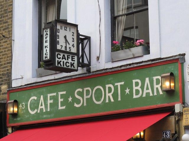 Café Kick, 43 Exmouth Market, EC1 - detail