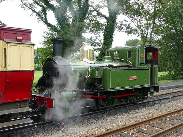 Locomotive no.10 waiting in Castletown Station