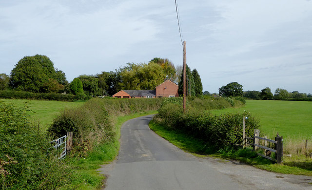 Lane to Norbury in Cheshire