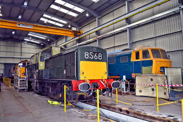 Rare diesels at Kidderminster Depot