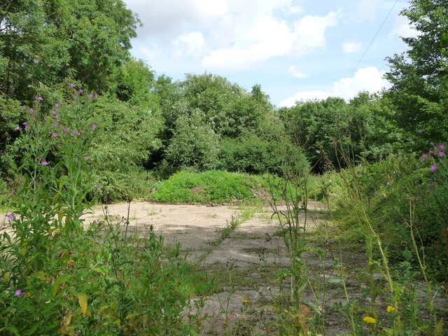 Disused hardstanding, north side of Finningham Road