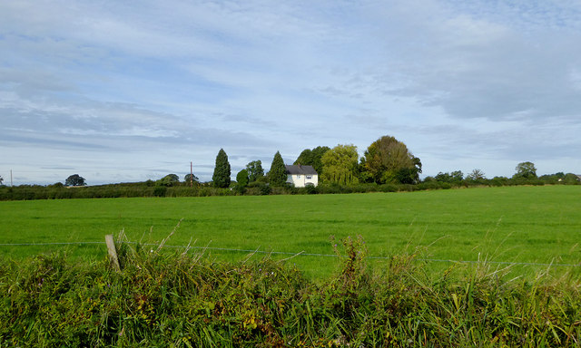 Pasture south-east of Norbury in Cheshire