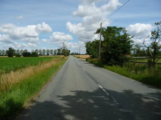 B1113 heading north to Rickinghall