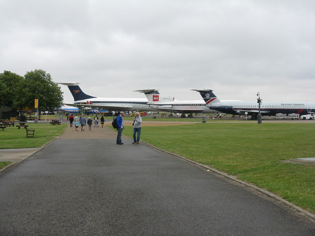 Airliner line-up at Duxford