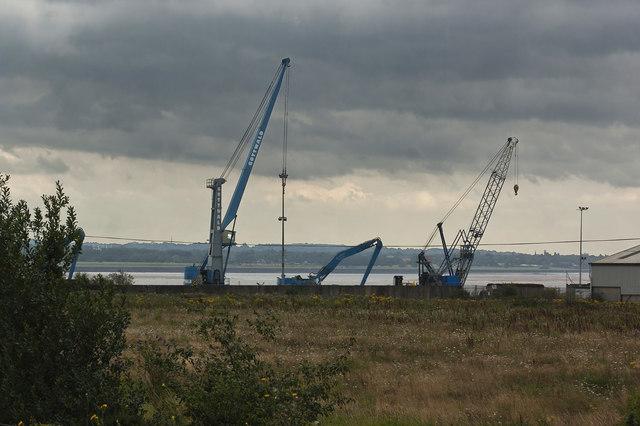 Cranes on Mersey Wharf