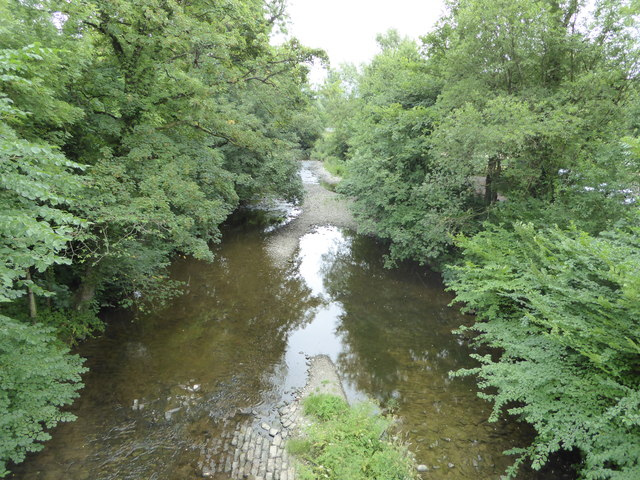 View to the Afon Rhiw from Berriew Aqueduct
