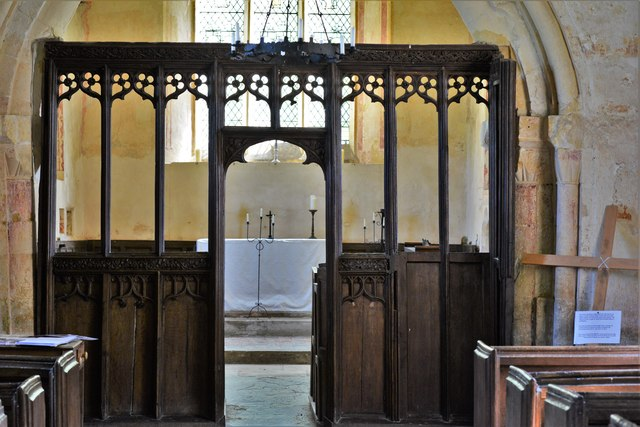 Hailes Old Church: Screen to the Norman chancel