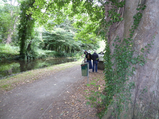 On the towpath of the Monty in Berriew