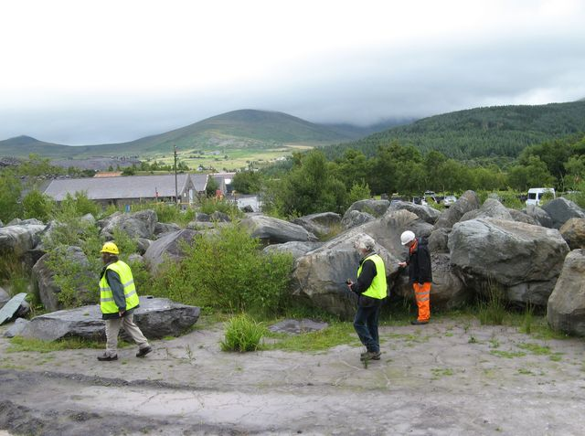 Erratic boulder park