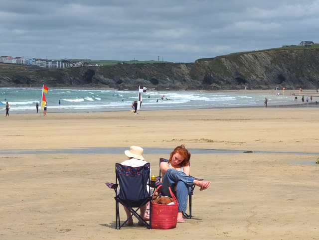Picnic on Towan Beach, Newquay