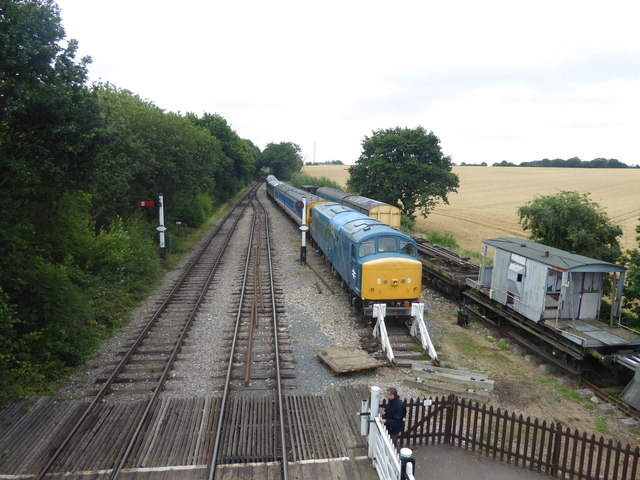 View from the footbridge at North Weald station