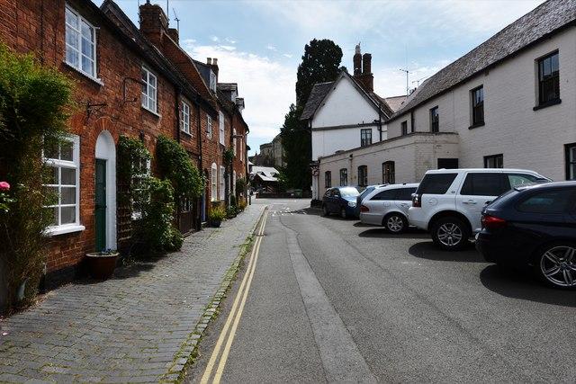 Tewkesbury: Mill Lane from Abbey Mill