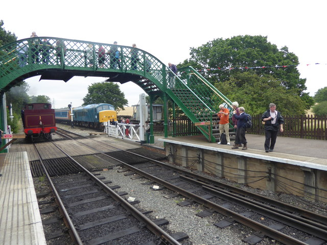 The footbridge at North Weald station