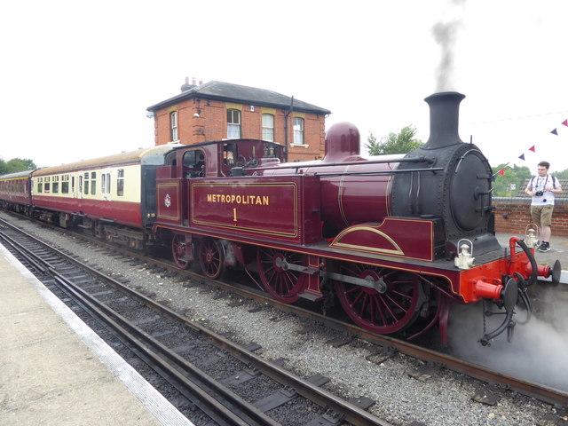 Visiting heritage steam engine at North Weald station