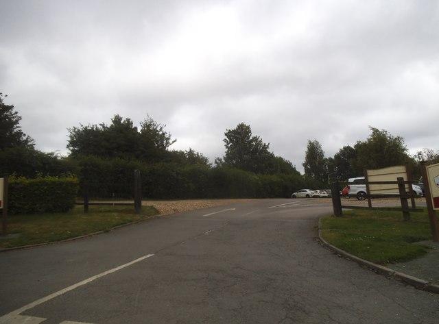 The entrance to Redbourn Golf Club