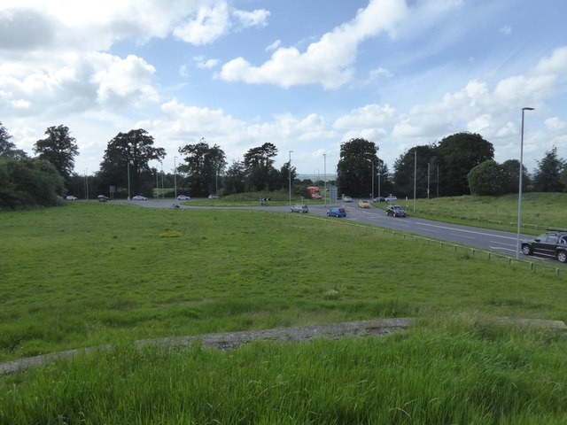 A361 roundabout from Paxcroft Mead mound
