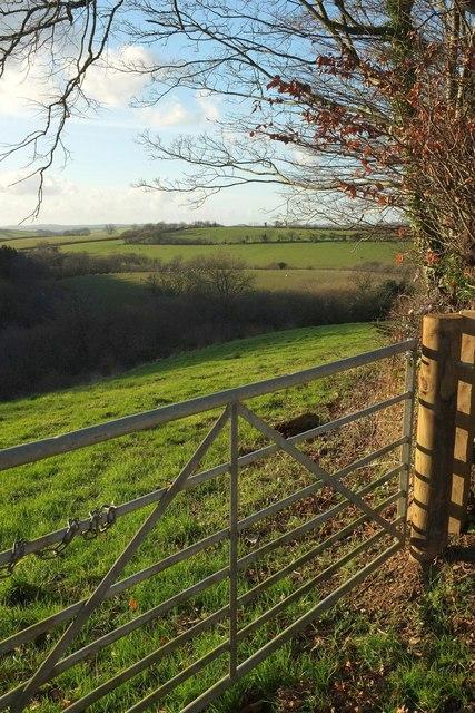 View near Homedown Cross