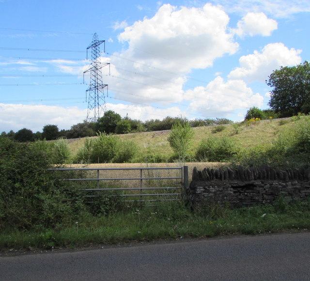 Electricity pylon near Westerleigh West Junction