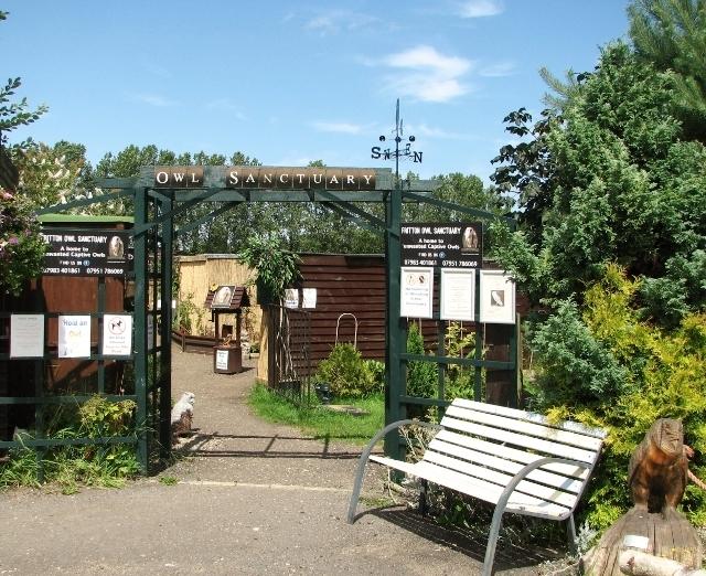 Entrance to the Fritton Owl Sanctuary