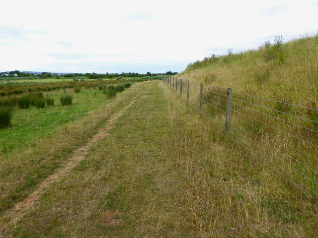 Wales Coast Path near Goldcliff Pill