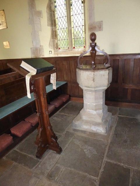 St Michael, Penhurst: font