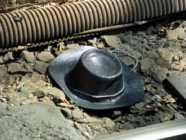 A cowboy hat at Preston railway station
