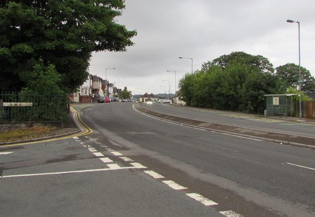 Bend in Malpas Road, Newport