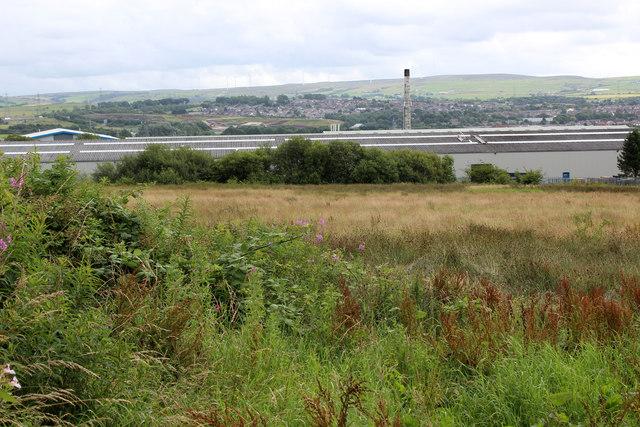 View towards the Whitebirk Industrial Estate