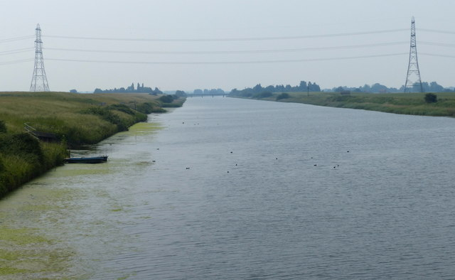 Looking south along the Relief Channel