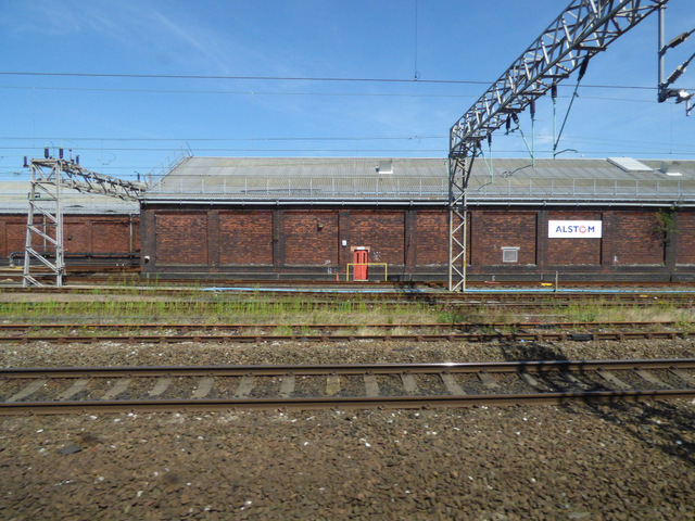 Alstom shed at Longsight railway depot