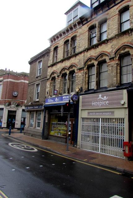 North Devon Hospice charity shop, High Street, Ilfracombe