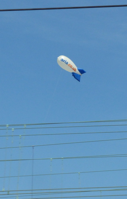 Aria blimp at Longsight