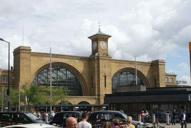View of Kings Cross Station from Pancras Road