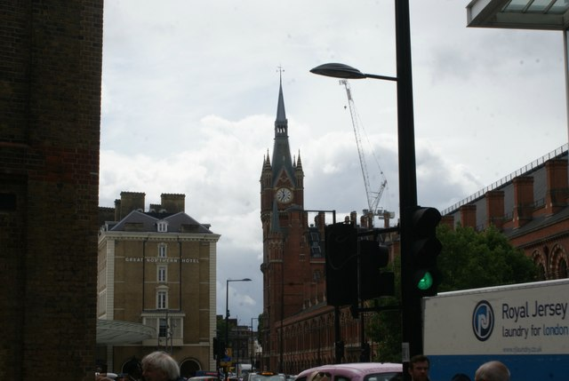 View of St. Pancras Station from Pancras Way