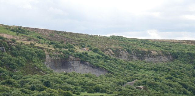 Former Alum Quarry From Roman Road, Ravenscar