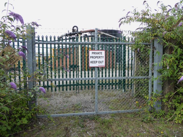 Closed entrance to Eastman Chemical site