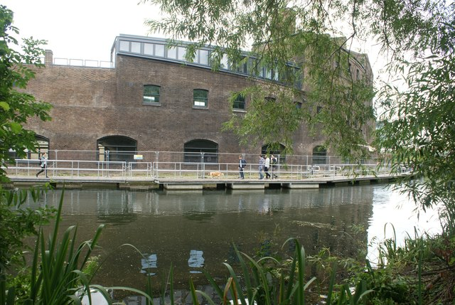 View of the old Granary Building from Camley Street Nature Park